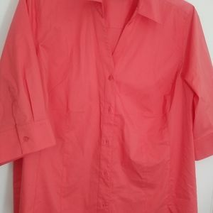 Lane Bryant 3/4 Sleeve Fitted Shirt NWOT